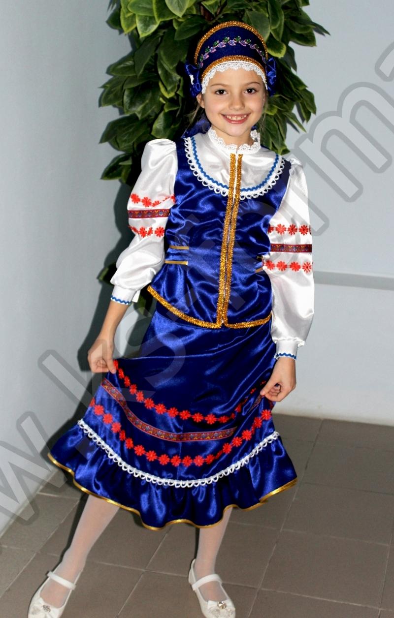 Комплект школьной казачьей формы для выступлений девочке