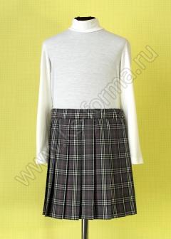 Юбка школьная в складку модель №1 цвет 10-01
