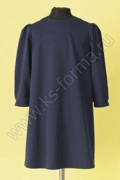 Платье модель №3-02 цвет синий (без воротника)