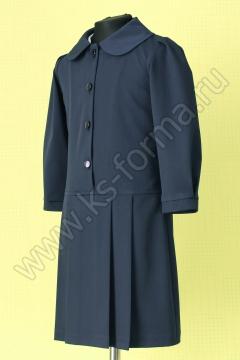 Платье школьное модель №1-02 цвет синий