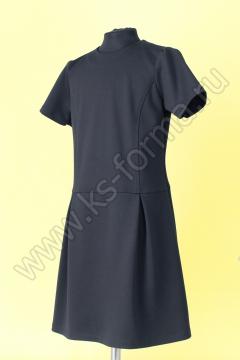 Платье школьное полуприлегающего силуэта отрезное по талии