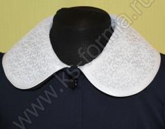 Фартук для школы модель №1 цвет белый + воротничок