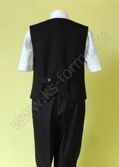 Школьная форма для для мальчиков. Жилет для мальчика модель №1 цвет черный