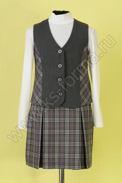 Жилет  школьный  для девочки модель №2 цвет 10-01 серый