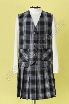 Жилет для девочки модель №1 цвет 40-03 серый