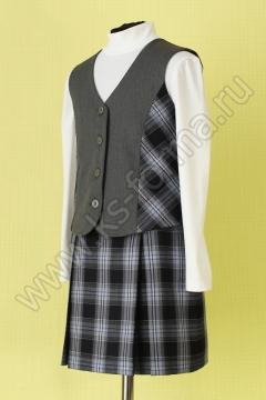 Жилет для девочки модель №2 цвет 40-03 серый