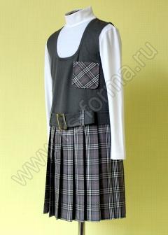 Сарафан школьный модель № 1 цвет 10-01 серый