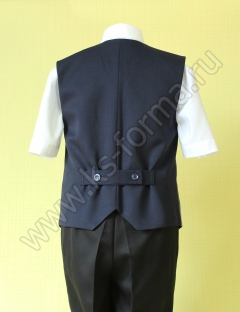 Школьная форма для для мальчиков. Жилет для мальчика модель №1 цвет 40-03 синяя спинка