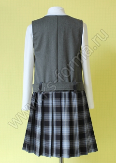 Сарафан для школы модель №1 цвет 40-03 серый