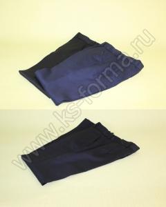 Школьная форма. Брюки полушерстянные для мальчика цвет черный, синий